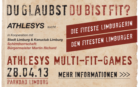 Athlesys Multi-Fit-Games 28. April 2013; Parkbad Limburg; Der härteste Fitness-Wettkampf Limburgs